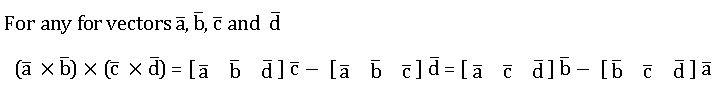 TS inter 1A vector product of four vectors 1
