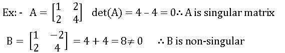singular and non-singular matrices