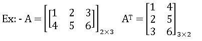 transpose of matrix