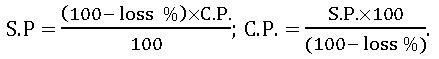 ts viii math loss formula