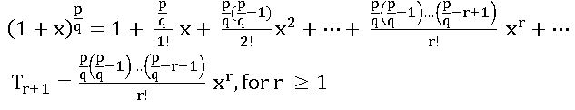 TS inter 2A binomial theorem for rational index2