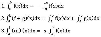 TS inter properties of definite integration