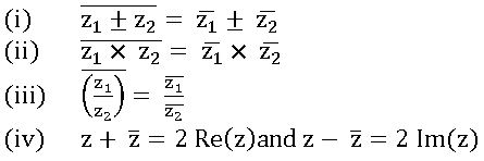 conjugate complex numbers properties
