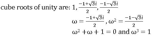cube roots of unity