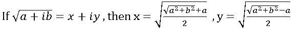 square root of complex numbers