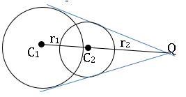 ts inter maths 2B the circles intersects at distinct points